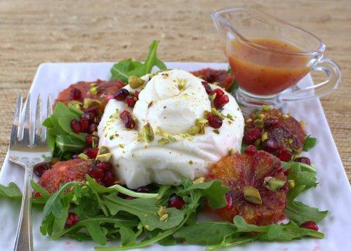 Burrata Salad with Blood Orange, Pistachio and Pomegranate