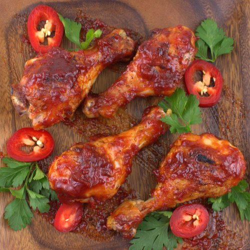 Smoky Jalapeño Barbecued Chicken Drumsticks