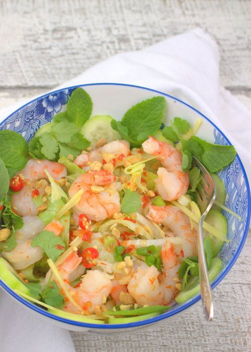Spicy Thai Shrimp Salad (Yam Goong)