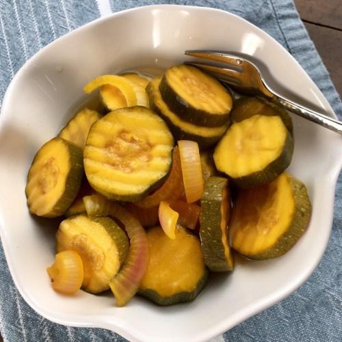Sugar-Free Bread and Butter Zucchini Pickles