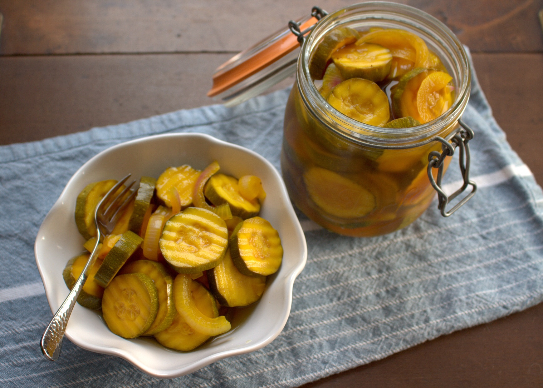 Sugar Free Bread And Butter Zucchini Pickles Foodieextravaganza