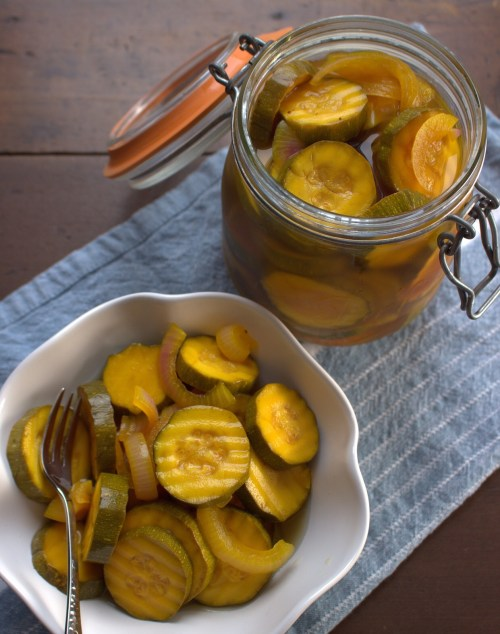 Sugar-Free Bread and Butter Zucchini Pickles