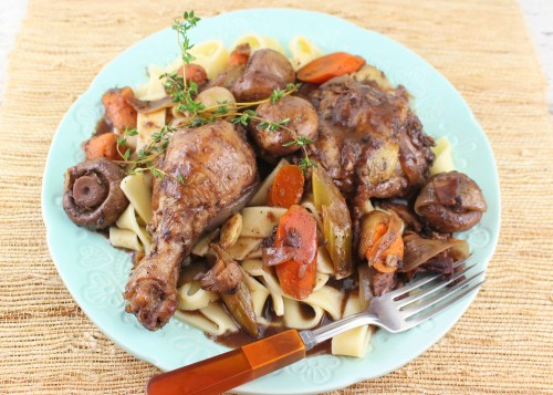 Coq au Vin (French Braised Chicken with Wine)