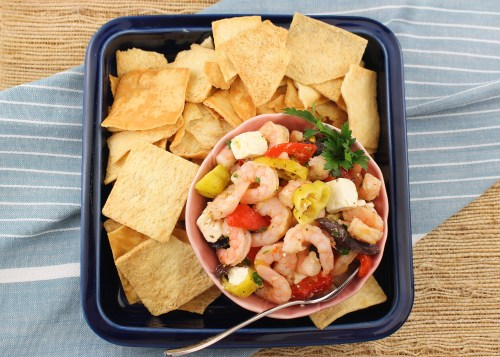 Greek Marinated Shrimp Salad
