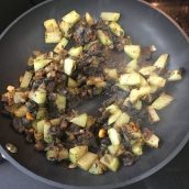 Sauteed Chayote and Cuitlacoche