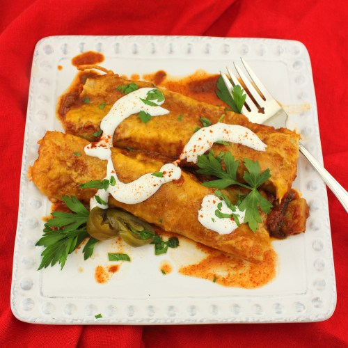 Chayote and Cuitlacoche Enchiladas