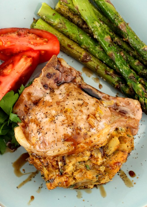 Baked Stuffed Pork Chops
