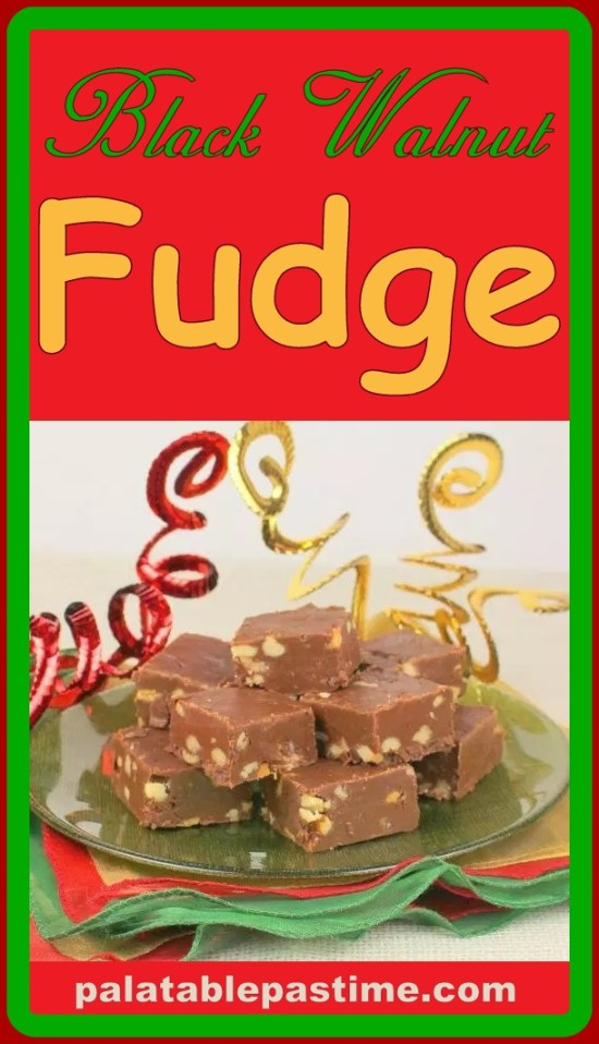 Black Walnut Fudge