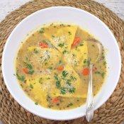 Pumpkin Ravioli Soup