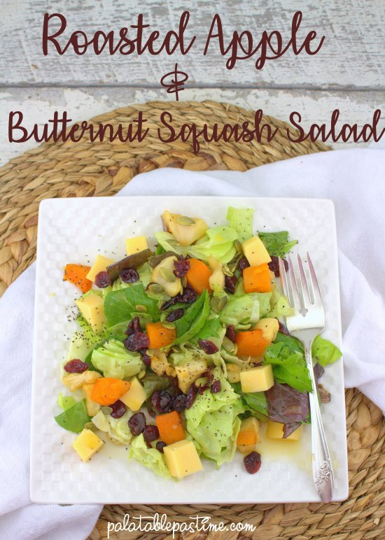 Roasted Apple and Butternut Squash Salad