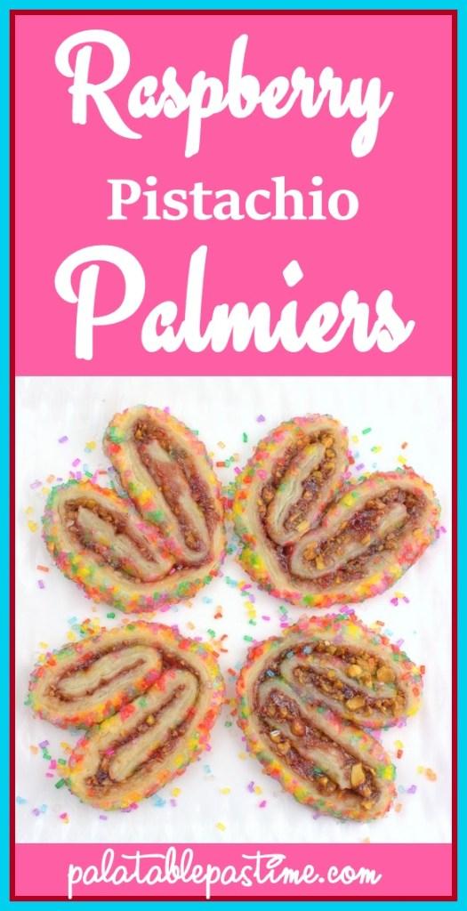 Raspberry Pistachio Palmiers