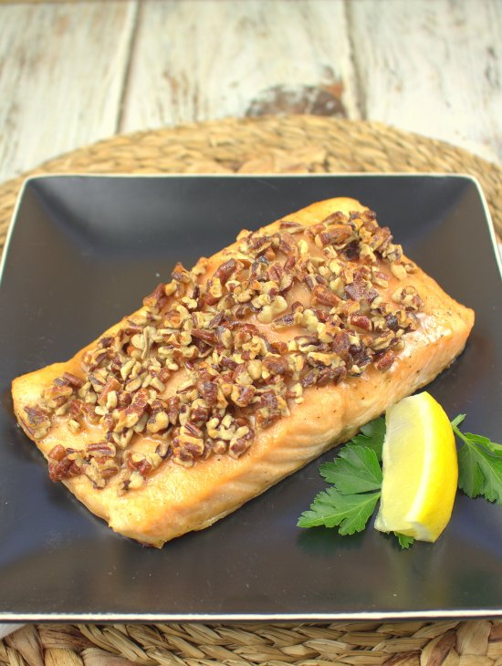 Maple Bourbon Oven Glazed Salmon