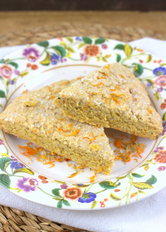 Lemon Calendula Scones