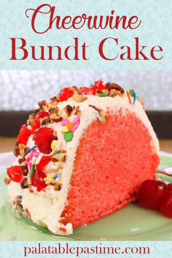 Cheerwine Bundt Cake