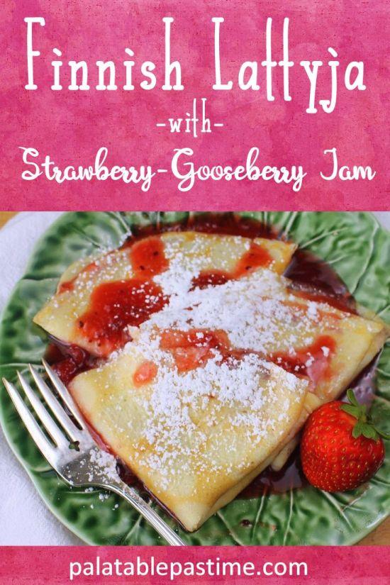 Lattyja Pancakes with Strawberry-Gooseberry Jam