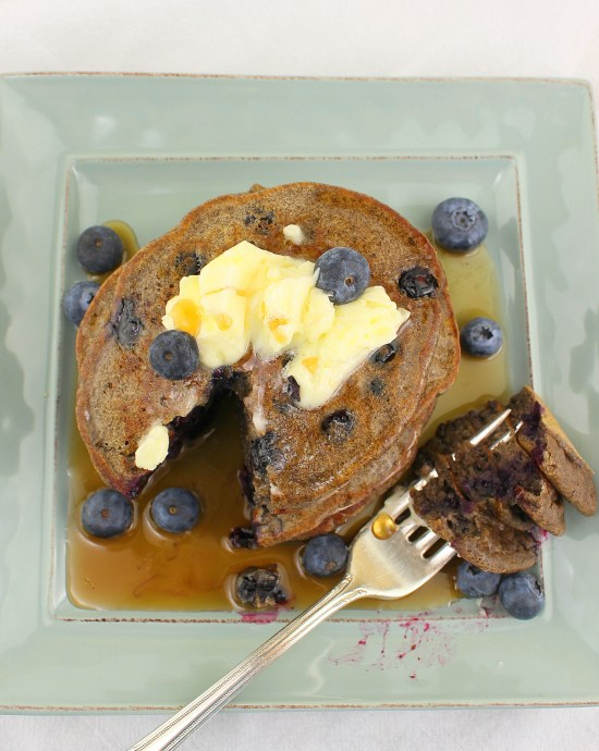 Buttermilk Blueberry Buckwheat Pancakes