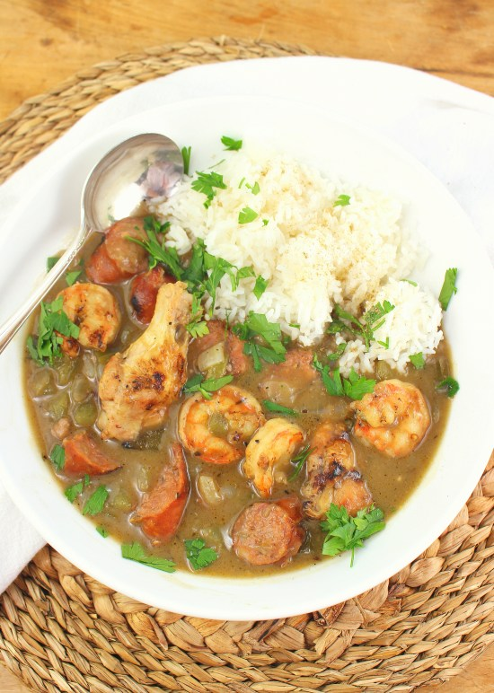 Grilled Cajun Style Gumbo