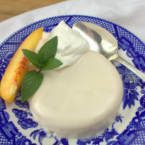 White Tea Peach Panna Cotta