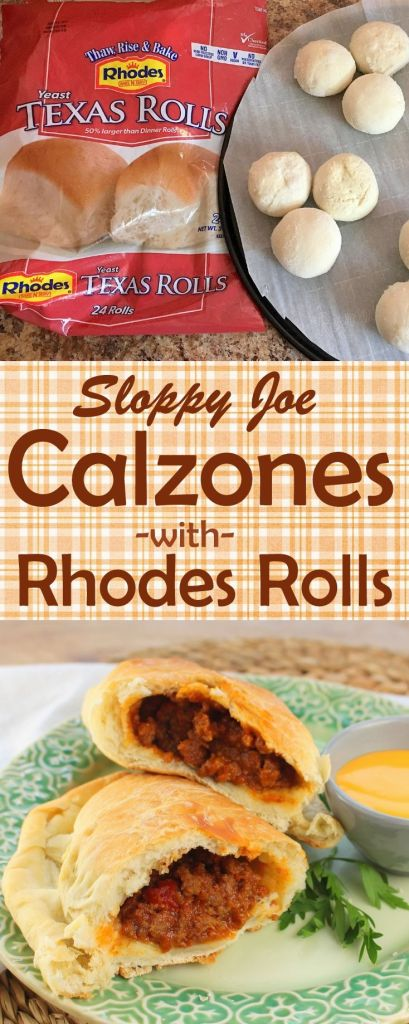 Sloppy Joe Calzones with Rhodes Bread