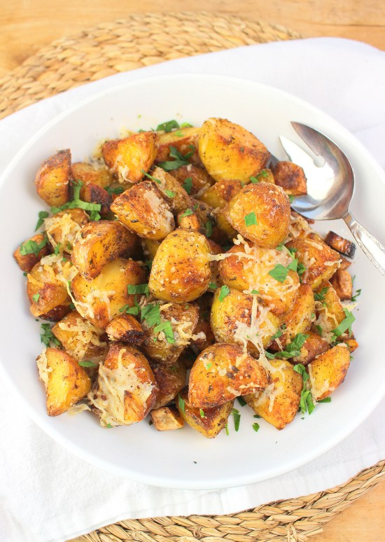Oven Roasted Garlic Potatoes