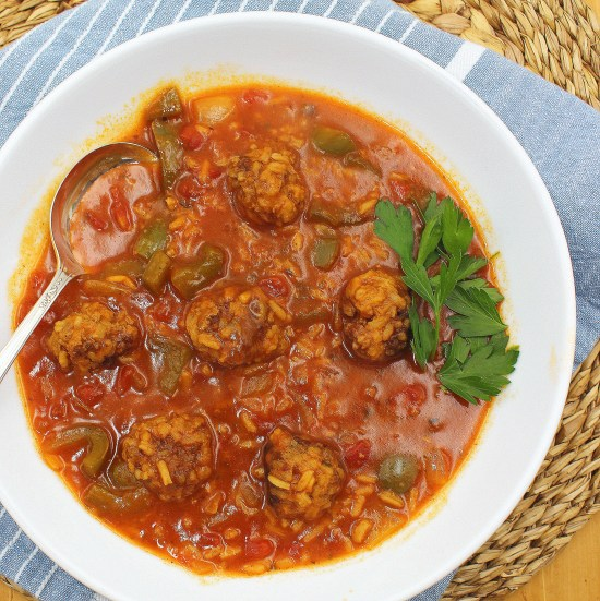 Amish Stuffed Pepper Soup