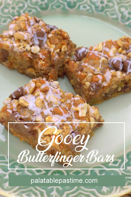 Gooey Butterfinger Bars