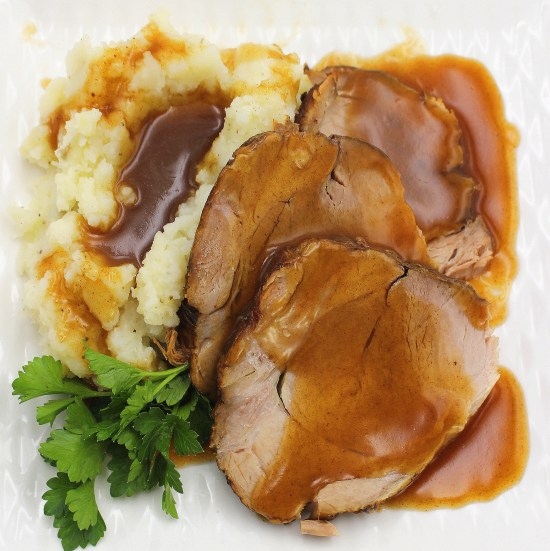 Homestyle Pork  Roast (Slow Cooker)