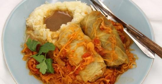 Quick Cabbage Rolls and Sauerkraut