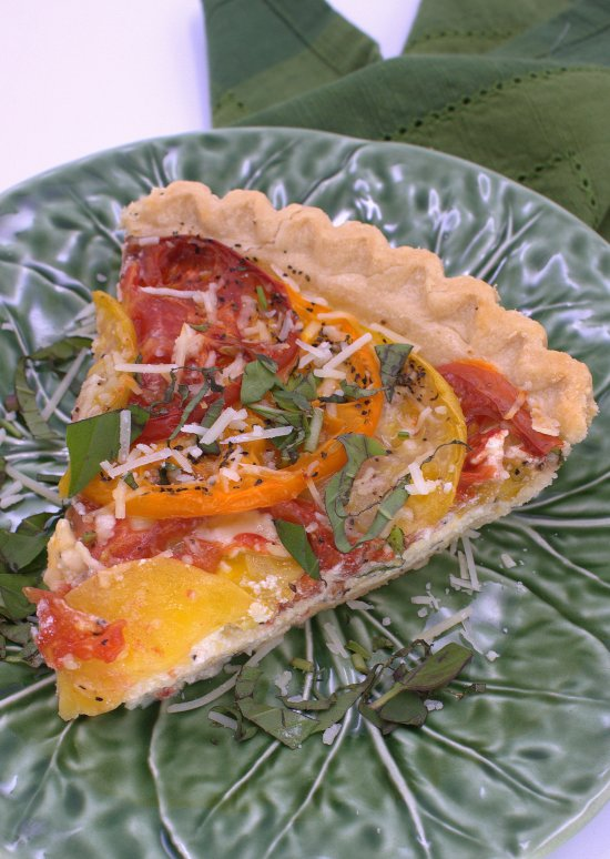 Fresh Tomato Ricotta Pie