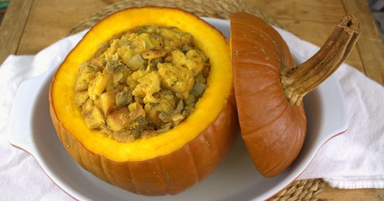 Roasted Whole Pumpkin with Stuffing