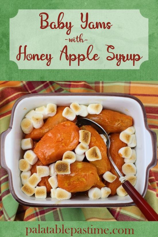 Baby Yams with Honey Apple Syrup