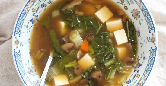 Tofu and Bok Choy Soup