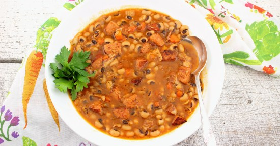 Spicy Black-Eyed Pea Soup (Instant Pot)
