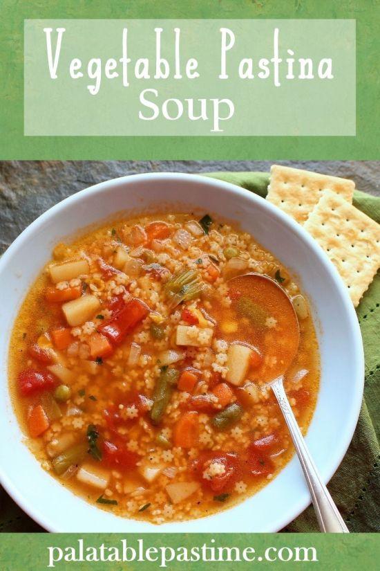 Vegetable Pastina Soup