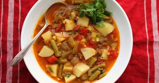 Spicy Chorizo Vegetable Soup
