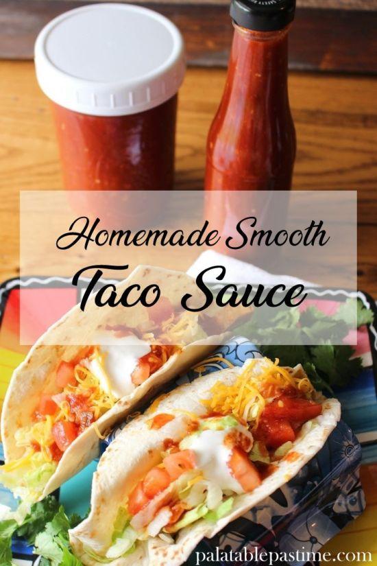 Homemade Smooth Taco Sauce