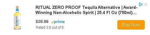 Ritual Tequila Alternative buy now