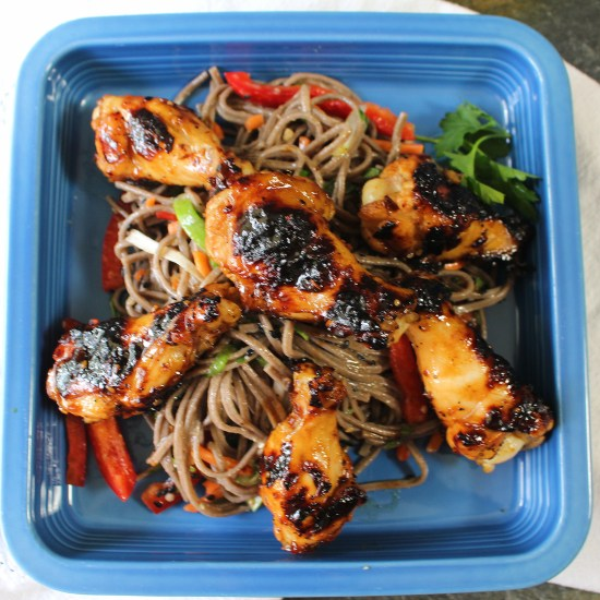 Teriyaki Chicken and Cold Soba Noodles