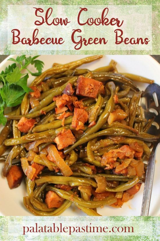 Slow Cooker Barbecue Green Beans