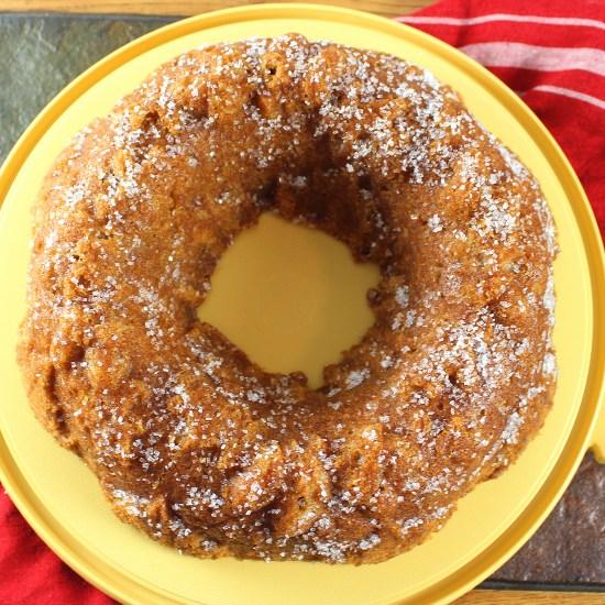 Apple Cider Syrup Bundt Cake Whole