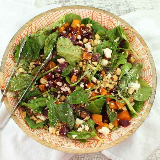 Pumpkin and Beet Salad