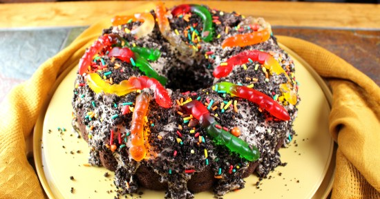 Dirt and Worms Bundt Cake