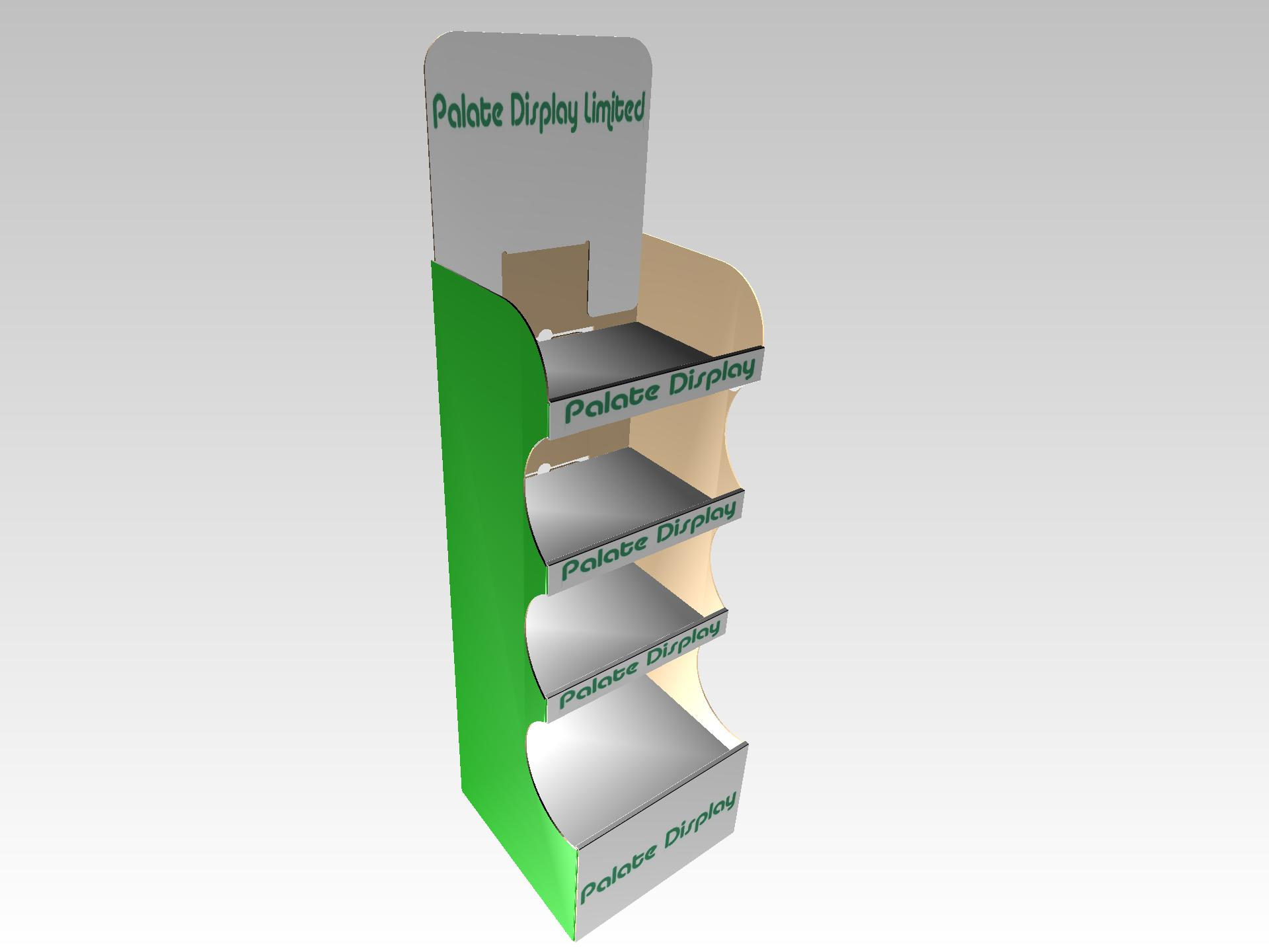Curved Display Point of Sale pallet