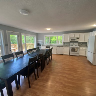 Kitchen and 12 person dining table