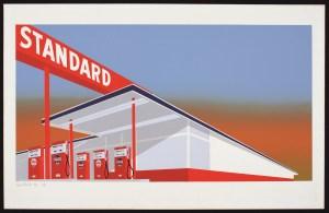 Ruscha. Standard Station, 1966