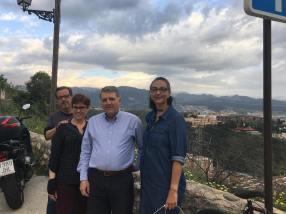 Alto do Realejo, com Pepe Pelegrina, parente espanhol de meu marido
