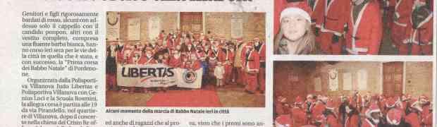 Messaggero Veneto 19/12/2013 - 1° corsa dei babbo natale