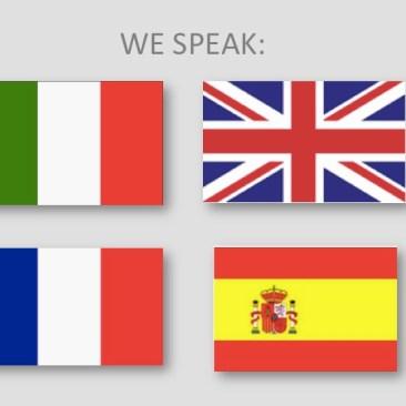 Italiano, inglese, francese, spagnolo
