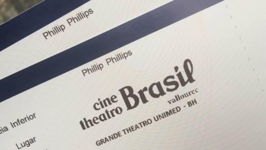 ingresso Phillip Phillips Brasil