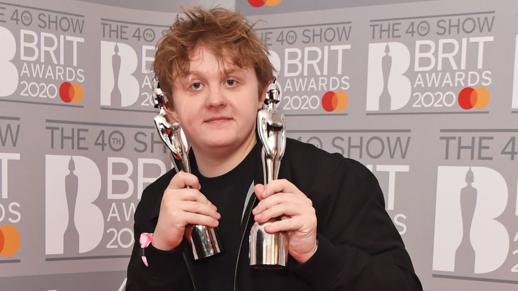 Lewis Capaldi no Brits Awards